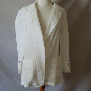 New Caslon Linen White Blazer
